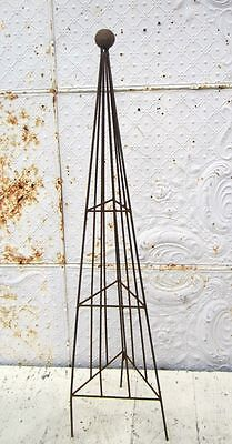"""46"""" Wrought Iron Triangle Topiary with Ball Top Trellis - 5 Sizes  Plant Support"""