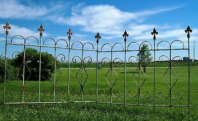 Connecting Fleur De Le Wrought Iron Fence Garden Border Fencing