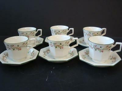Johnson Brothers Eternal Beau 6 X Cups And Saucers