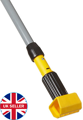 "55 ""Real Clean Aluminum  Commercial Mop Pole Rubber Handle"