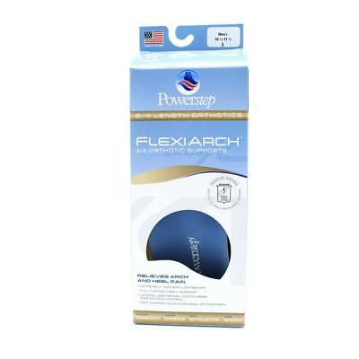 Powerstep FlexiArch 3/4 Length Orthotic Arch Supports- ALL SIZES