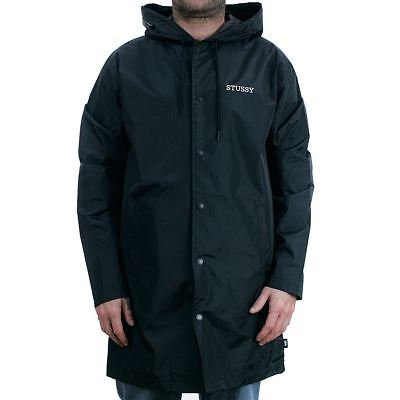 Stussy Tony Long Hooded Coach Jacket Black Coat New In Official Stockist BNWT