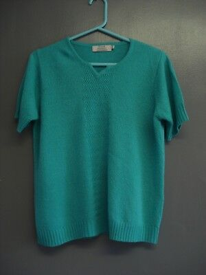 Ladies Pretty Turquoise Top From Honor Millburn....size M ( 14-16 )