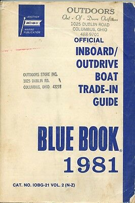 Vintage 1981 Official Inboard / Outdrive Boat Trade-In Guide Blue Book Vol. 2