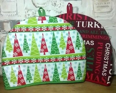Traditional Christmas Tea Cosy. Tea Pot Warmer. Dining Kitchen Tableware XMAS