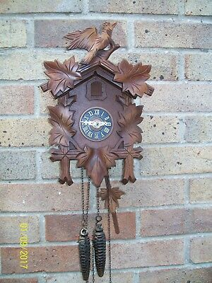 Vintage working Black Forest Wall Mounted Cuckoo Clock by Regula / West Germany
