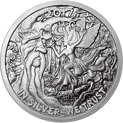 2017 Silverbug Collection Ariel The Tree Fairy 5 oz .999 Silver USA Proof Round