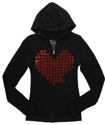 Iron Fist Abbey Dawn Metal Heart Burnout Zip Hoody - Black