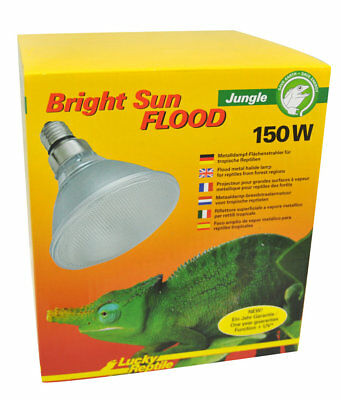 Lucky Reptile Bright Sun Flood Jungle UV 150 Watt /  UVA UVB Strahler / UV Lampe