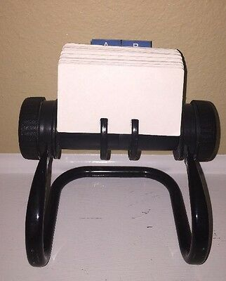 ROLODEX ROTARY CARD FILE-FOR OFFICE/ RECIPES PHONE NUMBERS & More