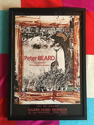 ORIGINAL , Framed Peter Beard Exhibition poster from 1999 EXCELLENT!