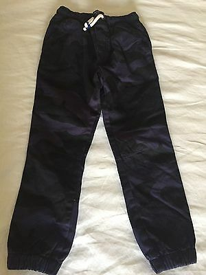 New Boys Size 5 Mini Boden Purple and Black Camouflage Pants