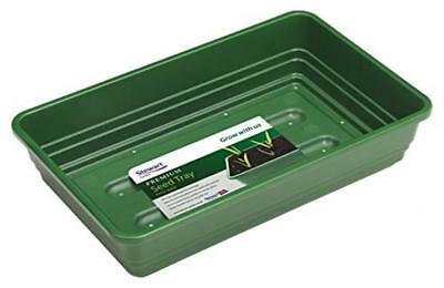 Stewart 2333004 22 cm Extra Deep Seed Tray with Holes - Green