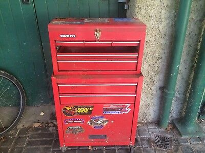 Snap On Tool Chest Retro Vintage 2 Part Stack Probably 1960's Collect Investment