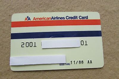 Vintage American Airlines Expired Credit Card - 11/88  -  FREE SHIPPING