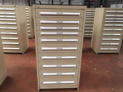 Used - Stanley Vidmar Cabinets - 10 Drawer