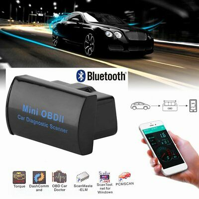Mini ELM327 V2.1 OBD2 OBDII Bluetooth Adapter Auto Scanner TORQUE ANDROID TOP