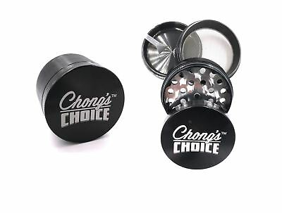 Tommy Chong's Choice Compact Herb Grinder Premium 2.5 Inch Black