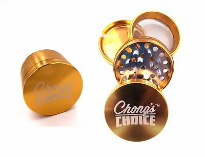 Tommy Chong's Choice Compact Herb Grinder Premium 2.5 Inch Gold
