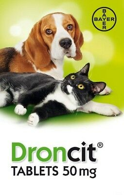 Droncit Dog Cat Worming Tablet Wormer De-wormer.