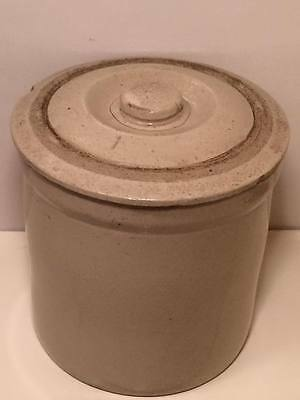 #1 Stoneware crock unmarked  Medalta or Sunburst ?