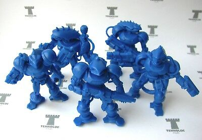 Alien Cyborgs 54 mm - 5 Figures Soft plastic Tehnolog Russian Toy Soldiers