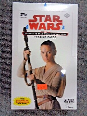 Star Wars JOURNEY TO THE LAST JEDI Trading Cards Hobby Box -SEALED 24 Packs!