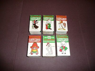 Lot of 6 Vintage Looney Tunes Christmas Ornaments from 1979 in boxes bugs, daffy
