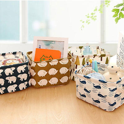 Baby Nursery Storage Box - Forest Creatures, Bear & Whale, Gift Box / Nappy Box