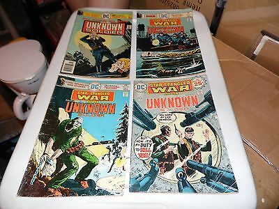 Star Spangled War Stories lot of 4 books #184 #192 #195 and #199 Unknown Soldier