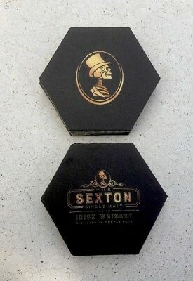 Sexton Single Malt Irish Whiskey Octagon You Receive 15 Coasters Free Shipping.
