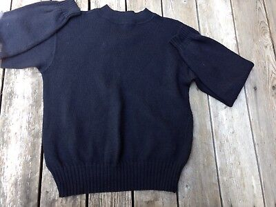 Vintage Navy Naval Issue Mens Large Wool Crewneck Sweater Rudolph Knitting Mills