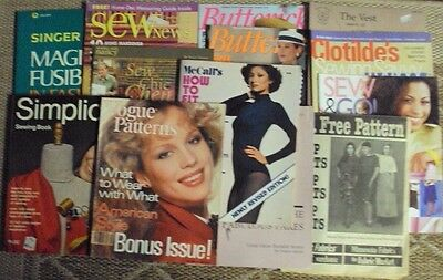 How to sew instruction books, sewing magazines, patterns, mixed lot 13 in all
