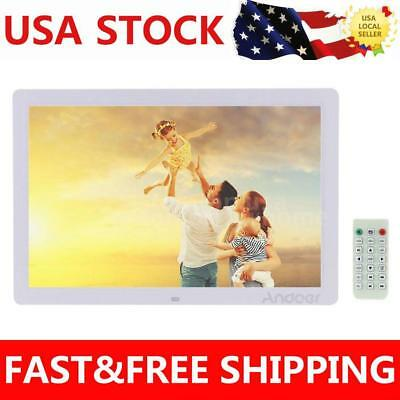 17 inch HD 1080P LED Digital Photo Frame Picture Alarm Movie Player Remote US