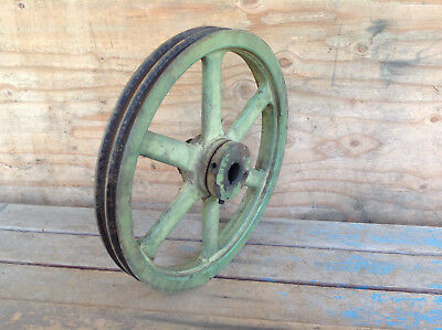 "Very Cool Antique Heavy Duty Double Pulley ""C"""