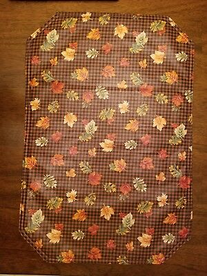 Longaberger Set of 4 Placemats Fall Gingham