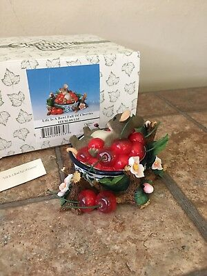 Charming Tails By Fitz And Floyd Life Is A Bowl Full Of Cherries Figurine 89/135