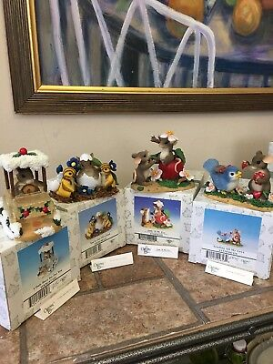 Charming Tails Fitz And Floyd Lot 4 Figurines