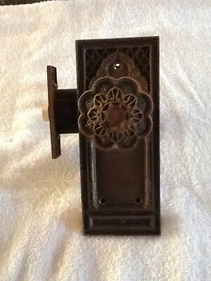 fancy brass door knob and works