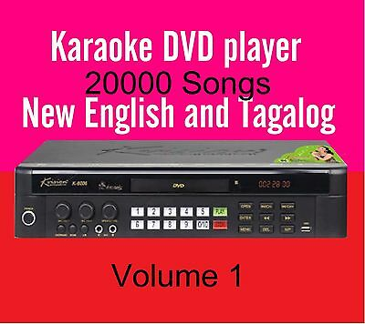 New English Tagalog Songs MiDi DVD Player UP GRADABLE Disc VOL1