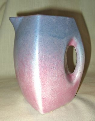 Vintage Niloak Art Pottery Pitcher/Creamer - Mauve to Blue Gradation