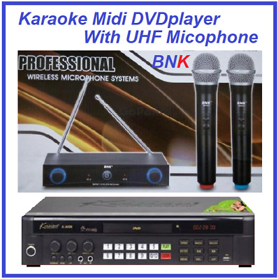 New Songs English Tagalog Songs MiDi DVD Player + UHF microphone with 2 handhold