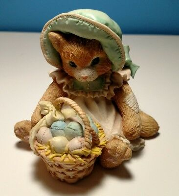 "Vintage Enesco Calico Kittens ""Easter Wishes Coming Your Way"" 1993 P. Hillman"