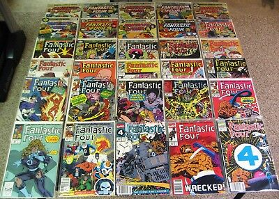 Fantastic Four 1st Series #164,165,188,197-199+, 35 Issue Lot, FN/VF or Better