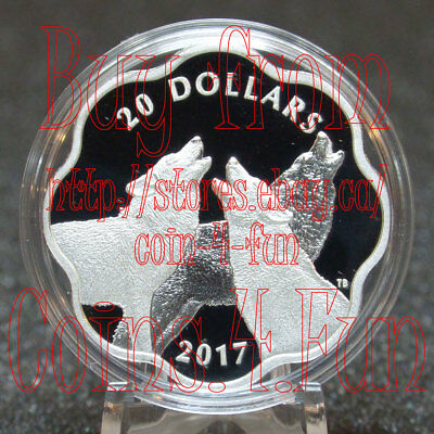 2017 Master of the Land - The Timber Wolf - $20 Scallop Pure Silver Coin Canada