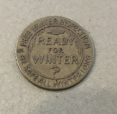 Vintage Chevrolet Ready For Winter Free Inspection Token