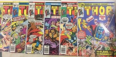 6 Thor Books Signed By Len Wein