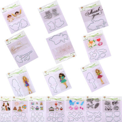 Clear Stamp and Cutting Dies Scrapbooking Decor Paper Card Stencil Crafts DIY