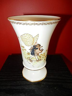 Vintage Holly Hobbie Spode England Limited Edition Commemorating HH Vase RARE *