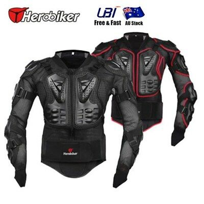 Motorcycle Full Body Armour Jacket Clothing Spine Chest Shoulder Protector Gear